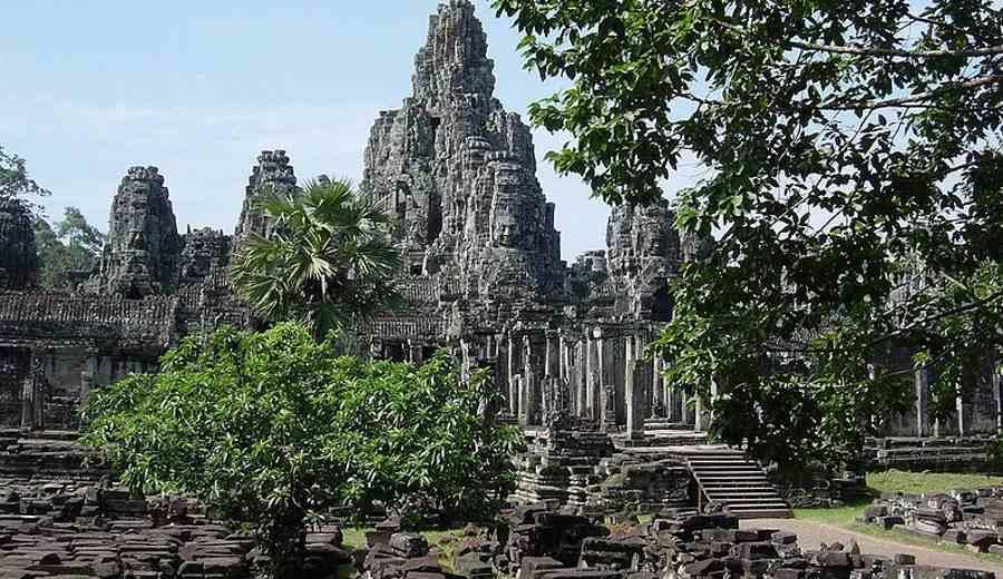Buddyjska świątynia w Angkor Thom w Kambodży. Ostatnia stolica imperium khmerskiego