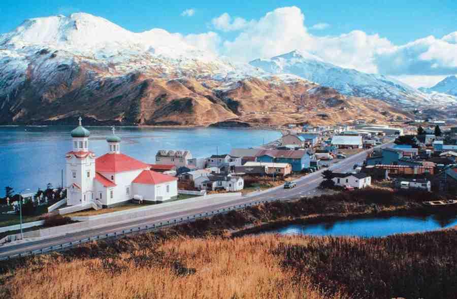 Miasto Unalaska - główne miasto archipelagu Aleuty