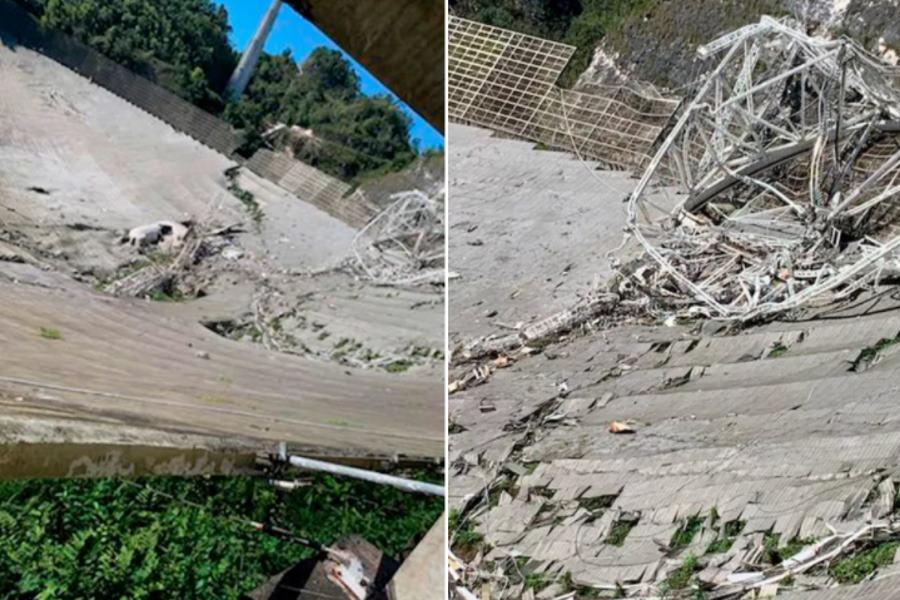 Obserwatorium Arecibo w gruzach. Na czaszę radioteleskopu runęła 900-tonowa platforma