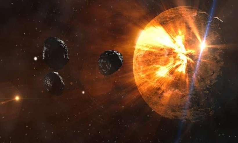 Asteroidy lecące w kierunku planety
