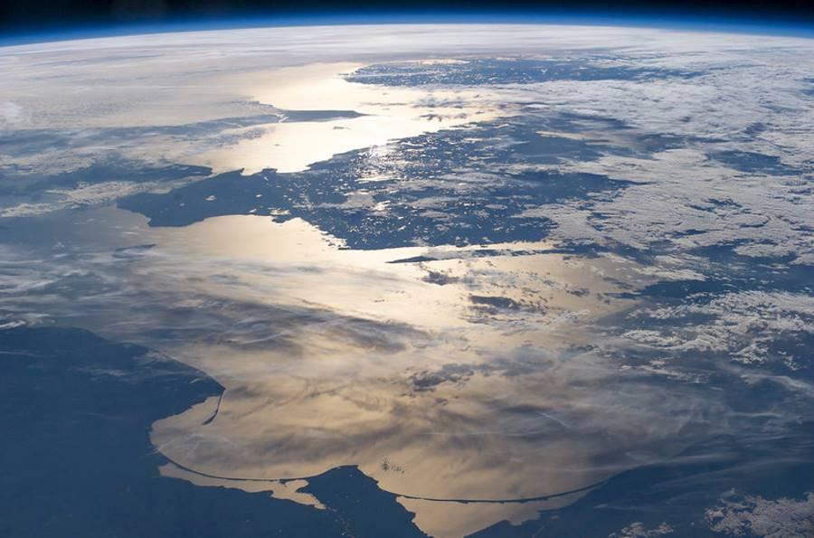 Morze Bałtyckie widziane z kosmosu