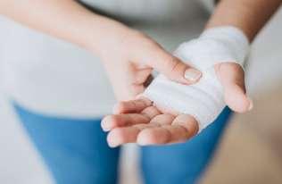 Opatrunek na dłoni