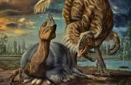 Pierzasty dinozaur Beibeilong sinensis