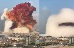 Eksplozja w Bejrucie widoczna z kosmosu