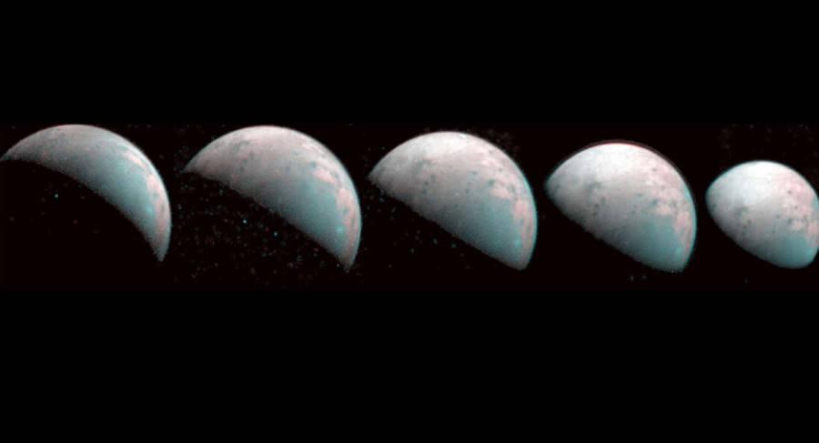 Pierwsze zdjęcia północnego bieguna Ganimedesa dostarczone przez sondę Juno