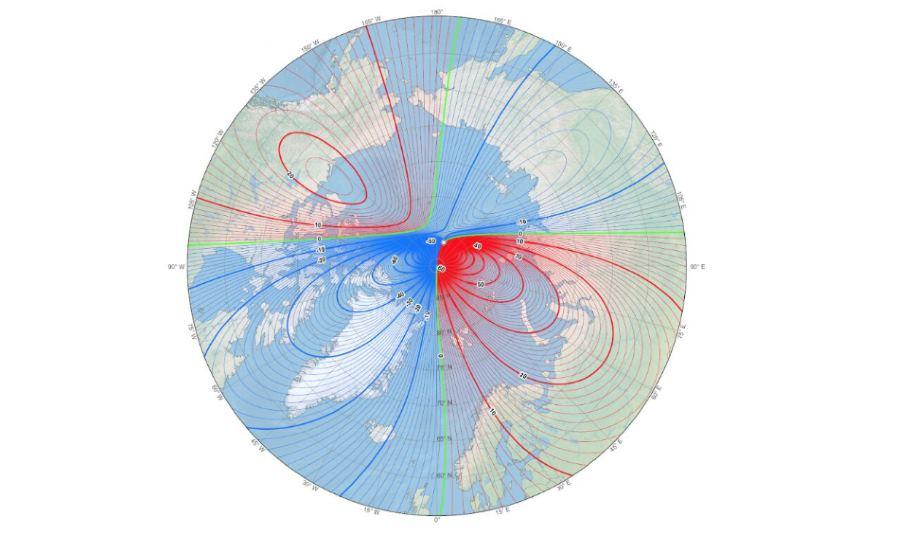 Północny biegun magnetyczny Ziemi przesuwa się w kierunku Syberii