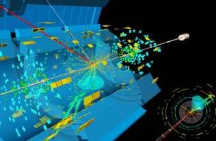 Symulacja zderzenia dwóch protonów kreujących Bozon Higgsa