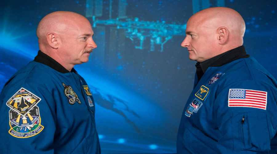 Astronauci NASA Scott i Mark Kelly