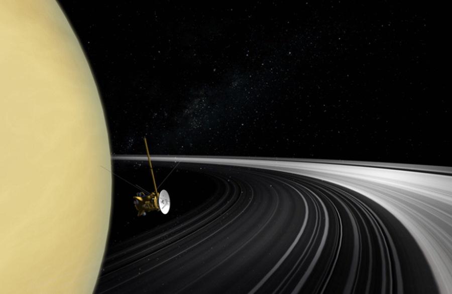 Sonda Cassini na orbicie Saturna