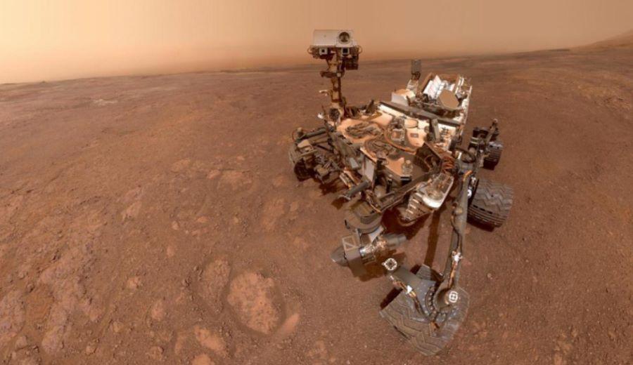 Łazik Curiosity na Marsie