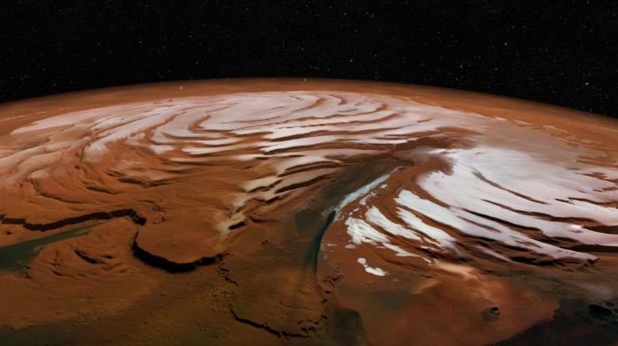 Czapa polarna na Marsie
