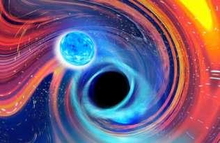 Po raz pierwszy zaobserwowano czarną dziurę połykającą gwiazdę neutronową