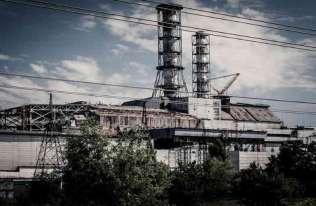 Elektrownia jądrowa w Czarnobylu. Widok na reaktor nr 4