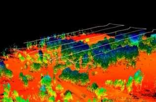 Obrazy z mapowania dronami Czerwonego Lasu w Czarnobylu