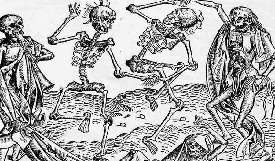Taniec Śmierci autorstwa Michaela Wolgemuta