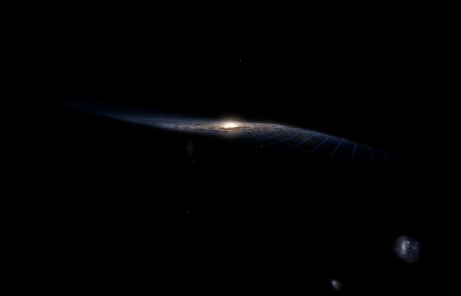 Odkształcenie Drogi Mlecznej może wynikać z trwającej kolizji z inną galaktyką
