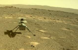 Marsjański dron Ingenuity przetrwał pierwszą noc naMarsie