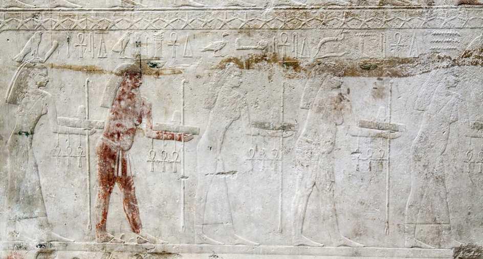 Płaskorzeźba ze starożytnego Egiptu