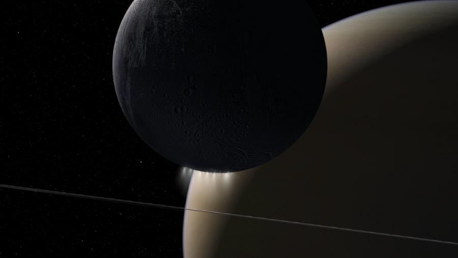 Enceladus i Saturn