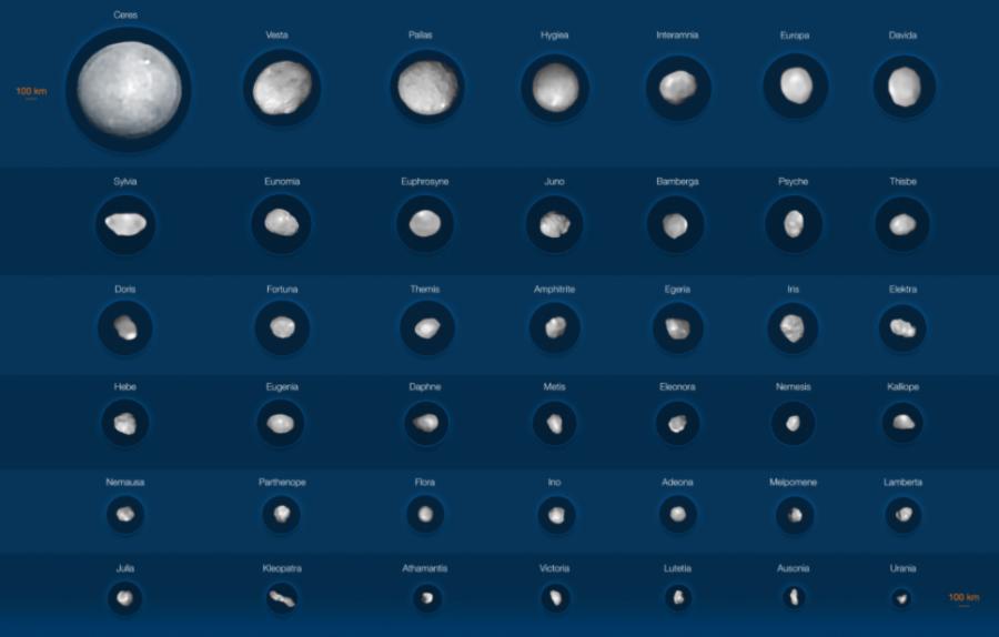 Teleskop ESO sfotografował największe planetoidy w Układzie Słonecznym