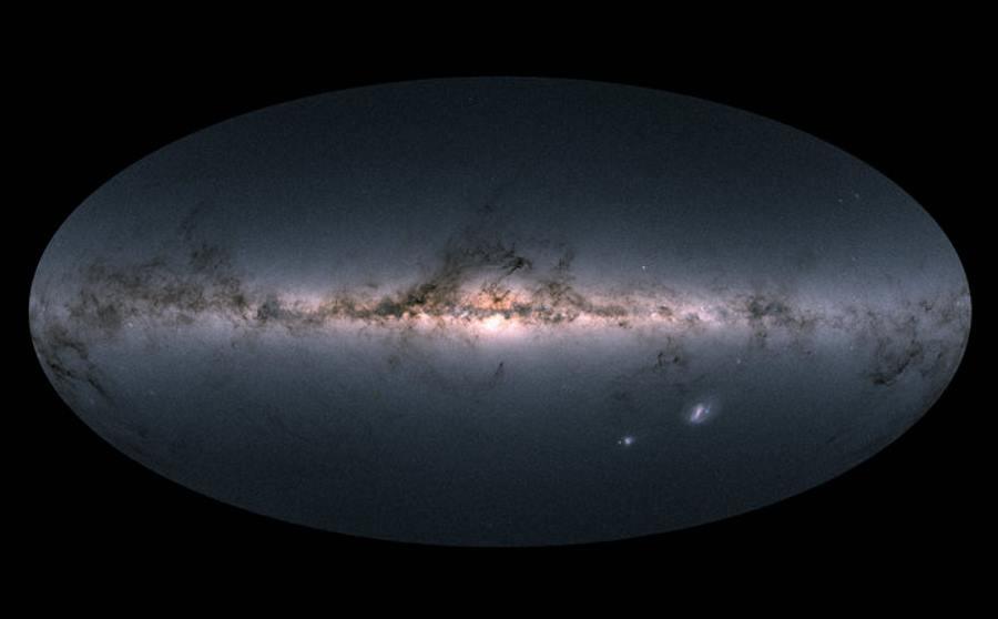 Mapa Drogi Mlecznej wykonana przez obserwatorium Gaia