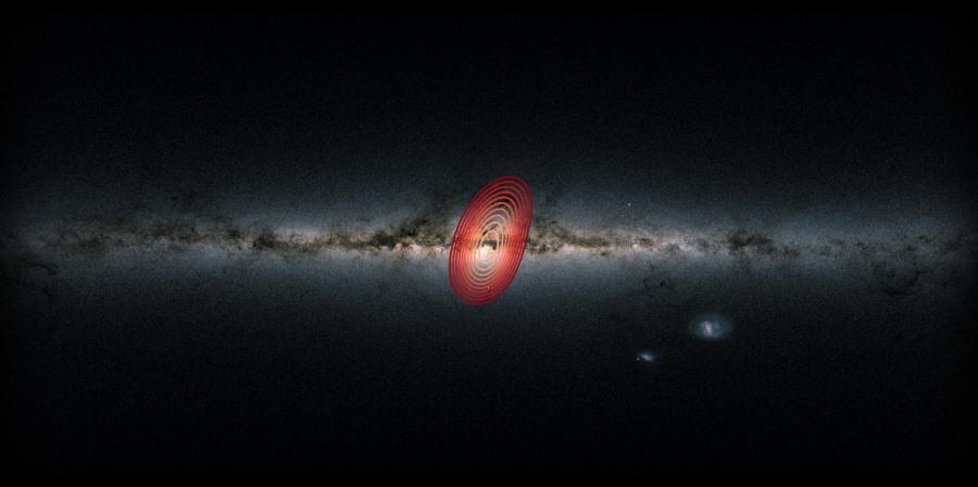 """""""Galaktyczna skamielina"""" w centrum Drogi Mlecznej"""