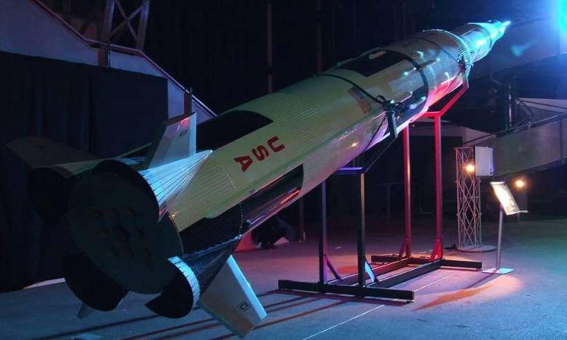 Model rakiety Saturn V na wystawie Gateway to space