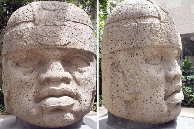 Kamienna głowa cywilizacji Olmeków z San Lorenzo