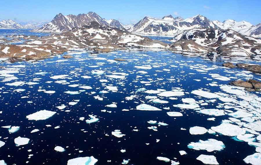 Roztopy na Grenlandii
