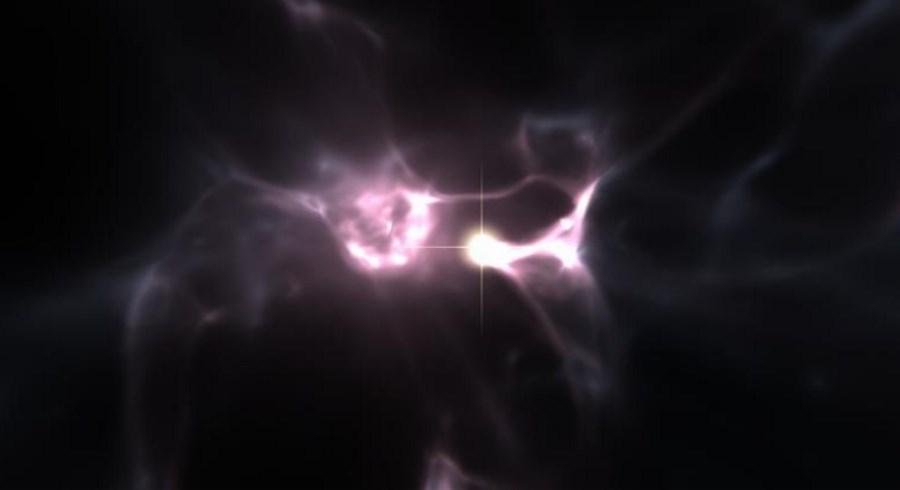 Czerwony olbrzym, który powstał tuż po Wielkim Wybuchu