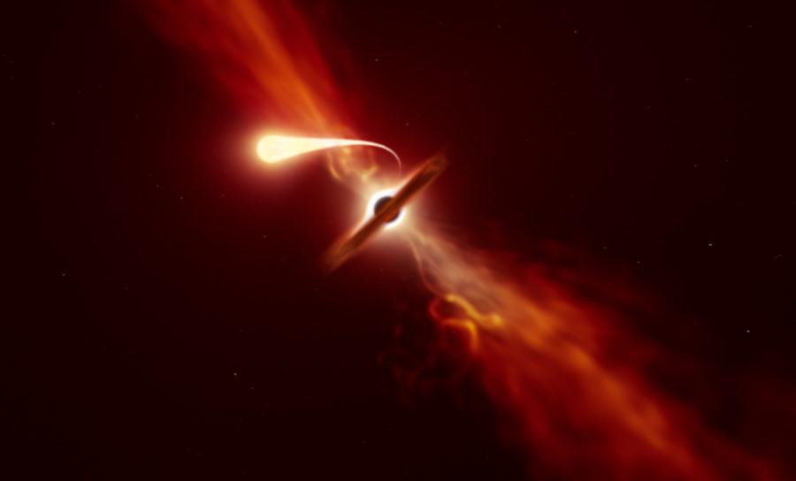 Teleskopy zarejestrowały ostatnie chwile gwiazdy rozrywanej na strzępy przez czarną dziurę