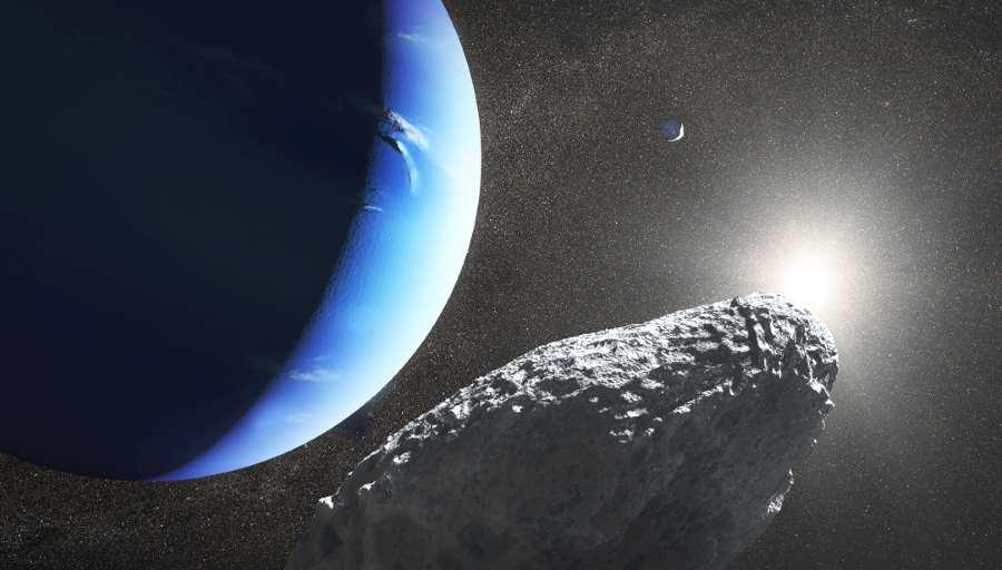 Asteroida zmierzająca w kierunku planety