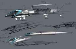 Szkice pociągu hyperloop