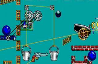 Screen z gry logicznej The Incredible Machine