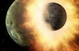 Zderzenie planet - wizja artystyczna