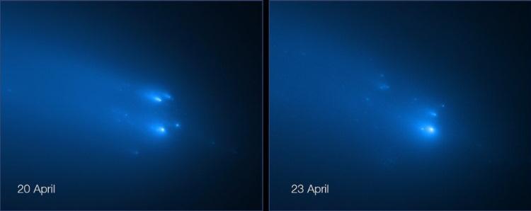 Rozpadająca się kometa Atlas