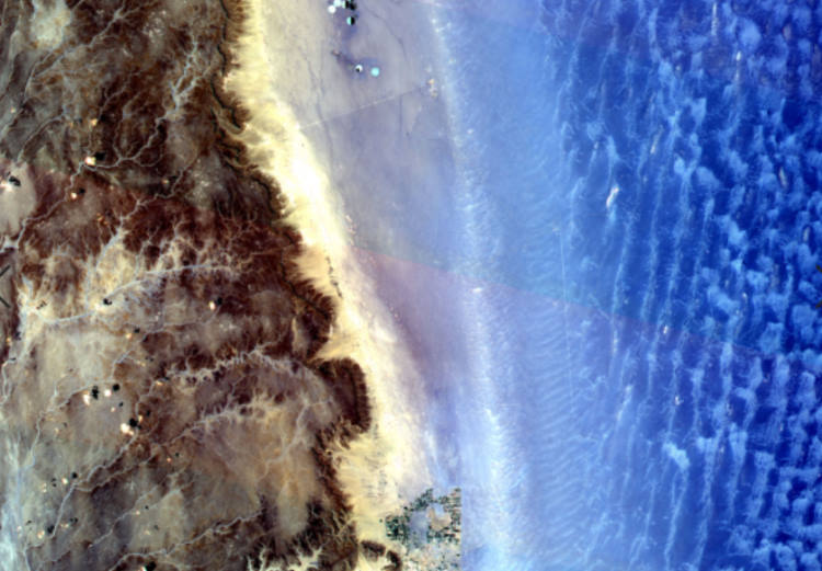 """zdjęcie Ziemi z kosmosu pozyskane przy pomocy platformy CREODIAS  w konkursie """"Seize the beauty of our planet"""""""