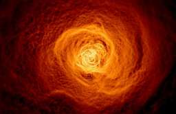 Fala gorącego gazu większą niż Droga Mleczna tocząca się przez gromadę galaktyk Perseusza
