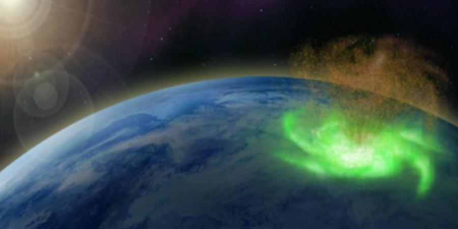 """Nad biegunem północnym zaobserwowano """"kosmiczny huragan"""""""