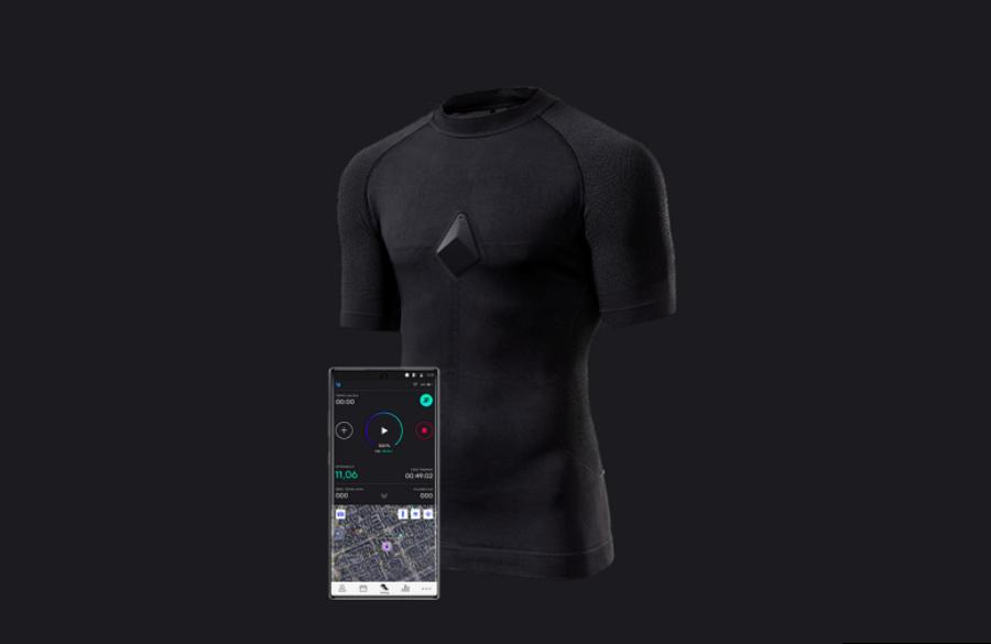 Koszulka dla sportowców, która monitoruje i analizuje stan organizmu podczas treningu