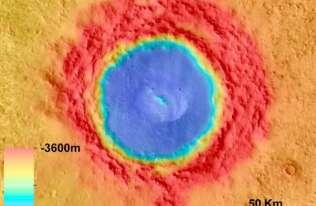 Krater Łomonosowa na Marsie