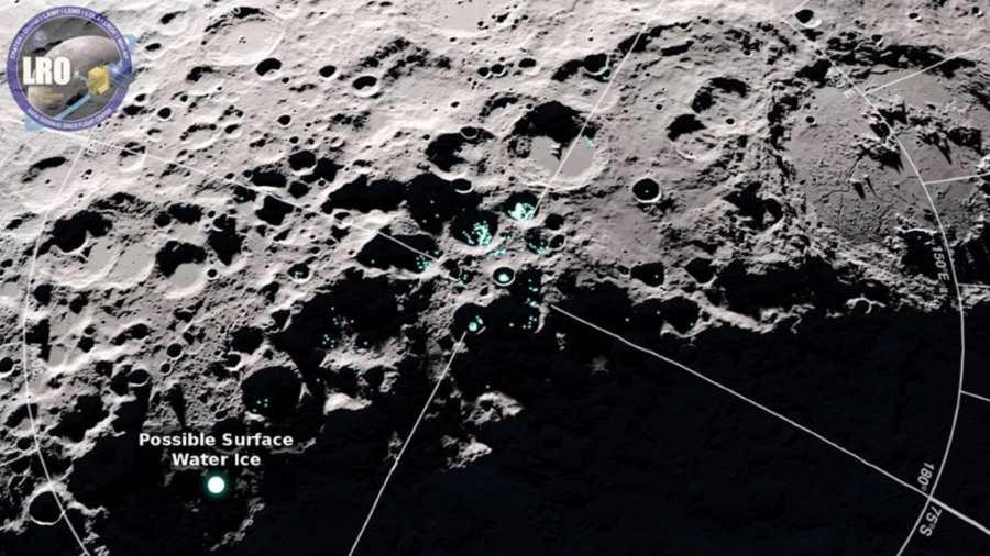 Lokalizacja lodu na Księżycu