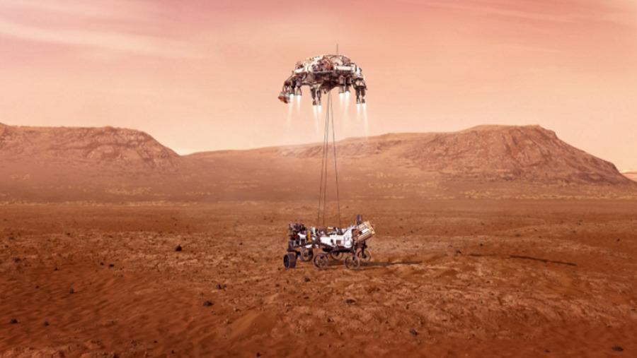 Jutro na powierzchni Marsa ma wylądowaćłazik Perseverance ze śmigłowcem Ingenuity