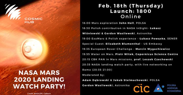 Lądowania misji Mars 2020