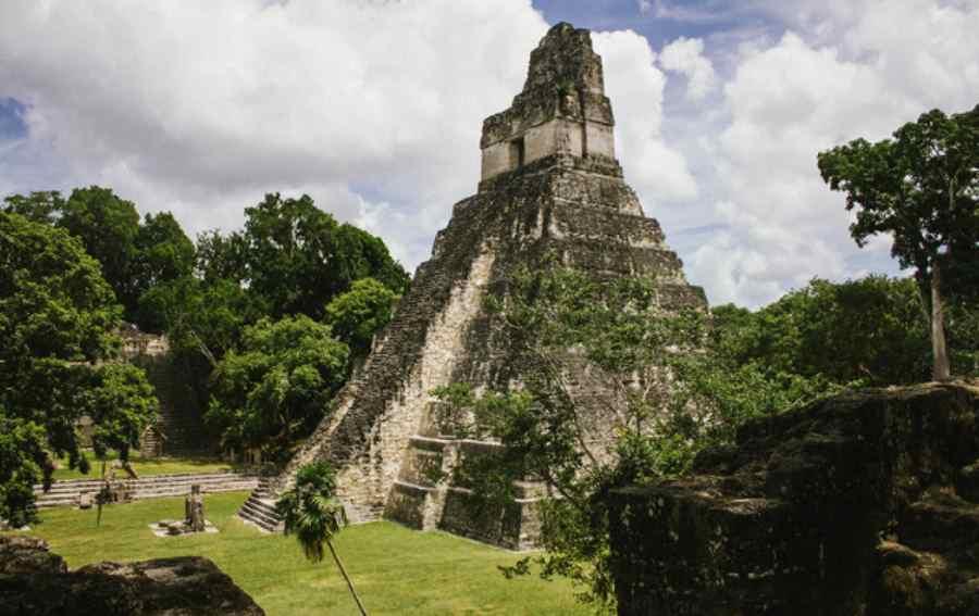 Piramida schodkowa Majów w Tikal