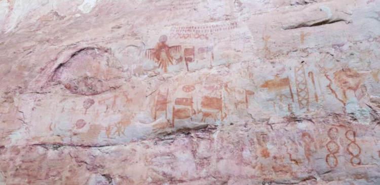 Malowidła naskalne z lasów Amazonii