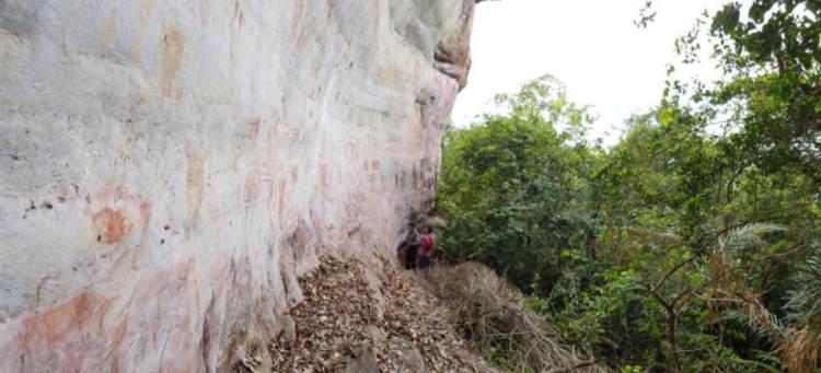 Malowidła naskalne z Amazonii