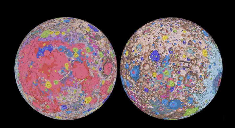 mapa geologiczna Księżyca
