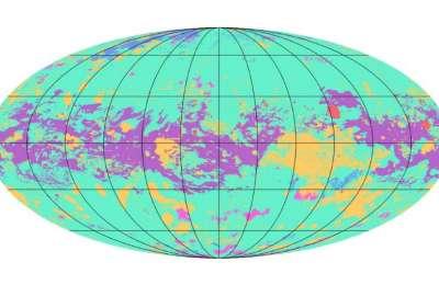 Mapa największego księżyca Saturna - Tytana