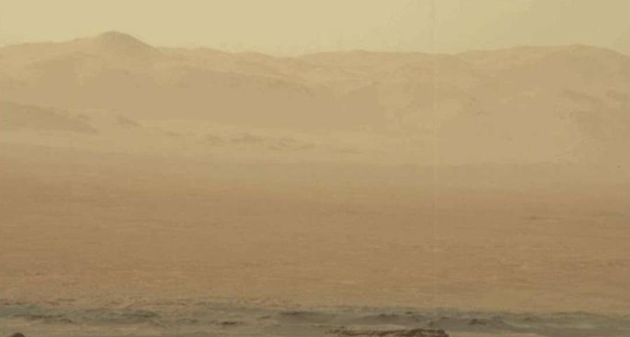Burza pyłowa na Marsie